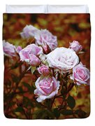 Rusty Romance In Pink Duvet Cover by Ivana Westin