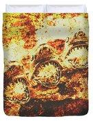Rusty Shark Scene Duvet Cover