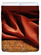 Rusty Silk Duvet Cover