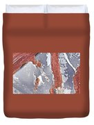 Rusty Silver And Brown Duvet Cover