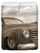 Rusty Studebaker In Sepia Duvet Cover