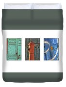 Rusty Triptych Duvet Cover