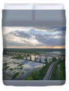 Rva Sunset Train Bridge Style Duvet Cover