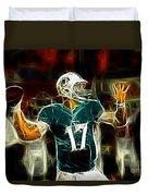 Ryan Tannehill - Miami Dolphin Quarterback Duvet Cover