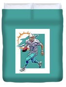 Ryan Tannehill Miami Dolphins Oil Art Duvet Cover