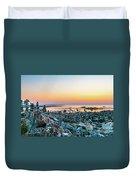 Rye, New Hampshire Sunrise Cairns Duvet Cover