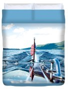 Ryp'd View Of Lake George, Ny Duvet Cover