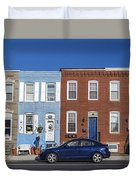 S Baltimore Row Homes - Wide Duvet Cover