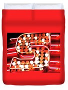 S In Lights Duvet Cover