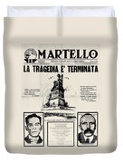 Sacco And Vanzetti Front Page Duvet Cover