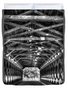 Sachs Bridge - Gettysburg - Bw-hdr Duvet Cover