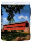 Sach's Covered Bridge Duvet Cover by Lois Bryan