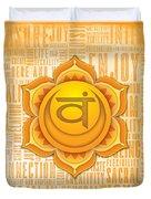 Sacral Chakra - Awareness Duvet Cover