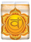 Sacral Chakra Duvet Cover by David Weingaertner