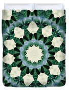 Sacramento Green And Cerulean Blue Mandala Duvet Cover