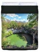 Sacred Cenote In Chichen Itza Duvet Cover