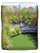 Sacred Cenote Vertical View Duvet Cover