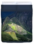 Sacred City Of Machu Picchu Duvet Cover