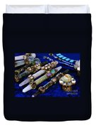 Sacred Gemstones Energy Amulets Crystal Balls Magic Wands Duvet Cover
