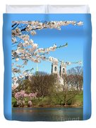 Sacred Heart And Branch Brook Cherry Blossoms  Duvet Cover