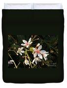 Sacred Heart Flowers Duvet Cover