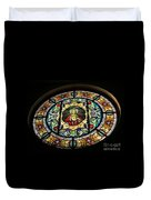 Sacred Heart Of Jesus Stained Glass Window Duvet Cover