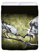 Sacred Ibis Photobombing Duvet Cover