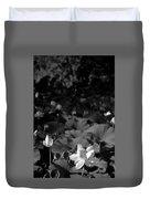 Sacred Lotus #2.    Black And White Duvet Cover