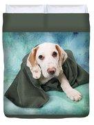 Sad Dog On Pastels Duvet Cover