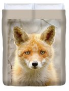 Sad Eyed Fox Of The Lowlands - Red Fox Portrait Duvet Cover