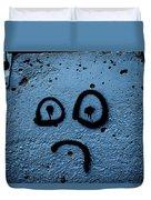 Sad Graffiti Duvet Cover
