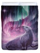 Sad Lonely Seal Duvet Cover