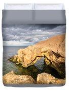 Saddle Rocks At High Tide Duvet Cover