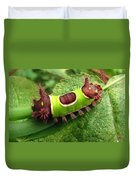 Saddleback Caterpillar Duvet Cover
