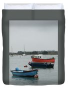 Safe Harbour On A Murky Day Duvet Cover