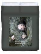 Safe In Mother's Arms Duvet Cover