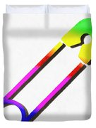 Safety Pin Rainbow Painting Duvet Cover