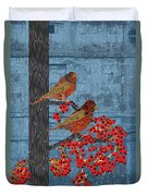 Sagebrush Sparrow Long Duvet Cover