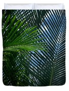 Sago Palm Fronds Duvet Cover