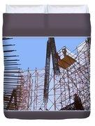 Sagrada Temple Barcelona  Under Construction Since 1886 Artwork By Navinjosh At Fineartamerica.com  Duvet Cover