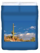Saguaro Cactus - Symbol Of The American West Duvet Cover