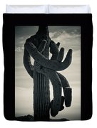 Saguaro Cactus Armed And Twisted Duvet Cover