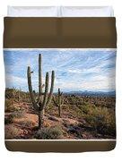 Saguaro Fields Duvet Cover