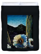 Saguaro In Bloom Duvet Cover