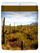 Saguaro National Park Duvet Cover