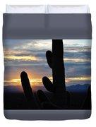 Saguaro National Park Sunset Landscape Duvet Cover