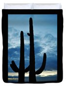 Saguaro Nights Duvet Cover