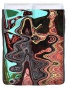 Saguaro Sore Abstract Duvet Cover