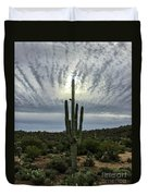 Saguaro Sun Break Clouds Duvet Cover