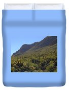 Saguaros And Other Greenery  Duvet Cover